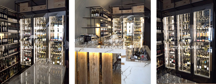 Tylko na zewnątrz Specjalistyczne szafy na wino. Na zamówienie, na wymiar. JX88