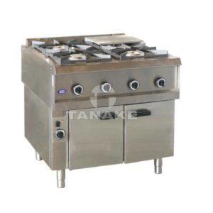 Kuchnia gazowa 4-palniki na szafce grzewczej