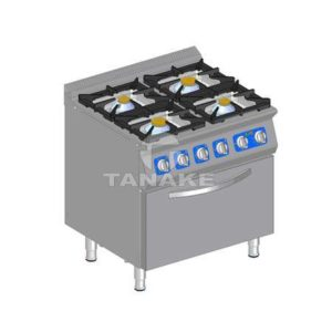 Kuchnia gazowa 4 palnikowa z piek. elektr.