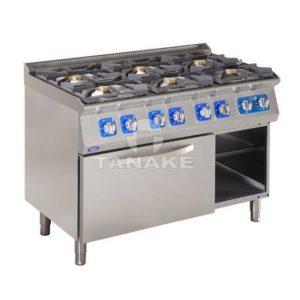 Kuchnia gazowa 6 palnikowa z piek. elektr.
