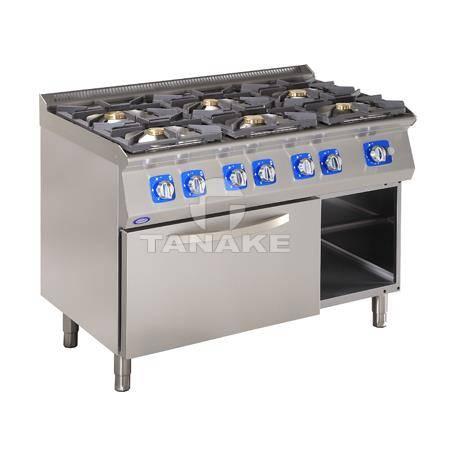 Kuchnia gazowa 6 palnikowa z piek. gaz.