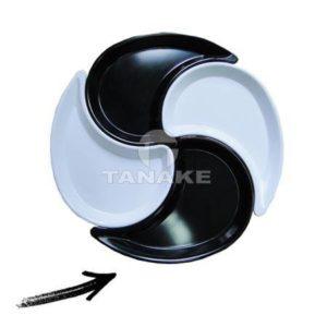 Talerz w kształcie znaku Yin